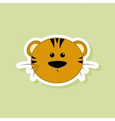 cute tiger face vector image vector image
