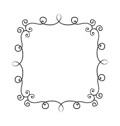 Hand drawn frame with curls Design vector image vector image