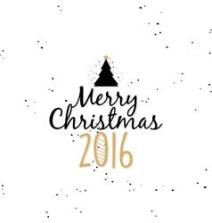 Happy merry christmas vector image
