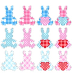 set of rabbits vector image vector image