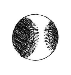 silhouette drawing baseball ball element sport vector image
