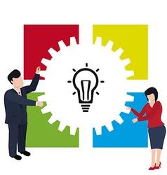 Teamwork Light bulb vector image vector image