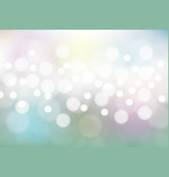 abstract bokeh on soft color background vector image vector image