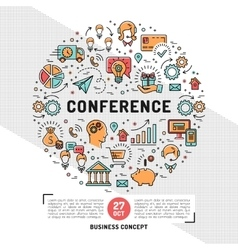 business conference design templates line vector image