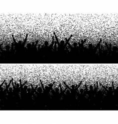 grainy crowds vector image vector image