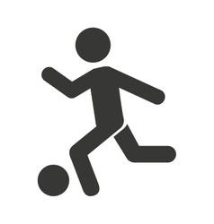 human figure playing soccer icon vector image vector image