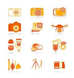 Photography set - JUICY series vector image vector image