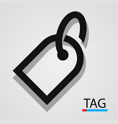 price tag icon simple and clean vector image