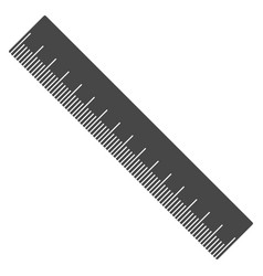 silhouette ruler flat gray line measuring tool vector image