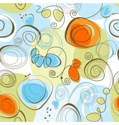whimsical floral background vector image