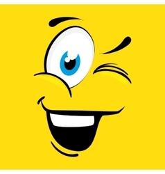 Funny cartoon face vector image