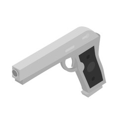 Gun icon isometric 3d style vector image