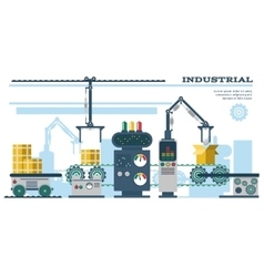 Industrial conveyor belt line vector image vector image