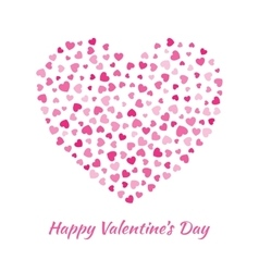 Pink Heart Valentines Day Card Background vector image vector image