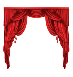 theater stage red curtains realistic vector image vector image