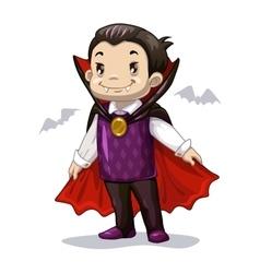 Funny cartoon little vampire vector image