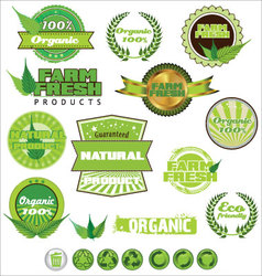 Nature icons collection vector image vector image