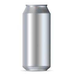Realistic aluminum can vector image