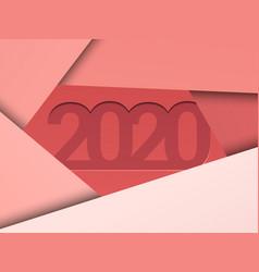 2020 new year elegant background vector image