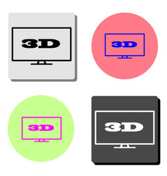 3d flat icon vector image