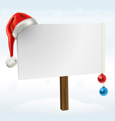 A christmas sign vector