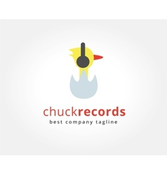 Abstract chuck with headphones logo icon concept vector image