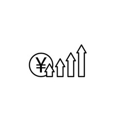 arrows up yuan icon element of finance signs and vector image