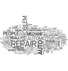 Auto repair text word cloud concept vector