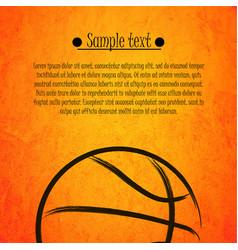 basketball ball background vector image
