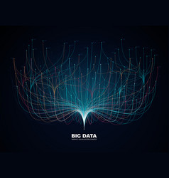 Big data network visualization concept digital vector