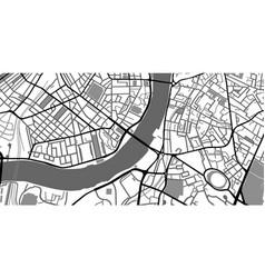Black and white map city center roads monochrome vector