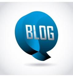 blog template design vector image