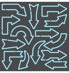 Blue neon arrows vector