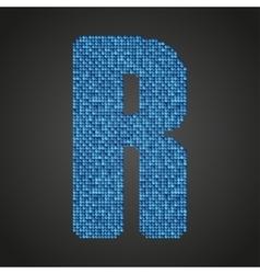 Blue sequins sings Sequins alphabet Eps 10 vector image