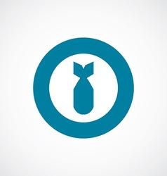 bomb icon bold blue circle border vector image