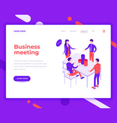 business meeting people and interact with office vector image