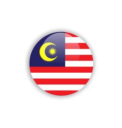 Button malaysia flag template design vector
