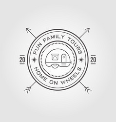 camper trailer logo design template home on vector image