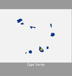 Cape verde map flag vector