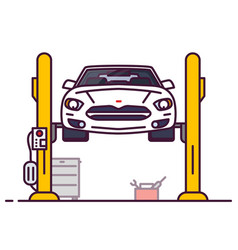 car and repair shop vector image