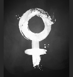 Chalked of woman symbol vector