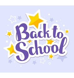 colorful of inscription back to school on bl vector image