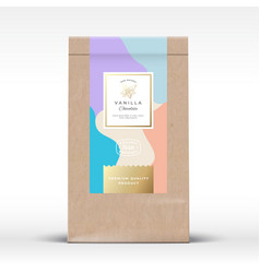 craft paper bag with minty chocolate label vector image