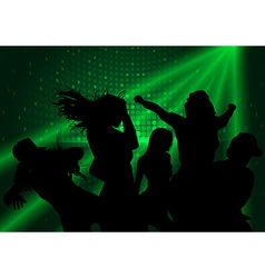 Dance Party and Laser Show vector image