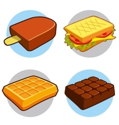 Dessert and fast food icon vector
