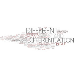 Differentiation word cloud concept vector