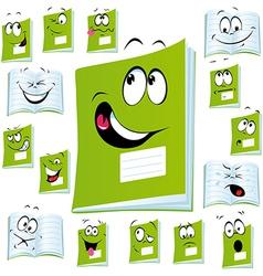 Exercise book cartoon vector