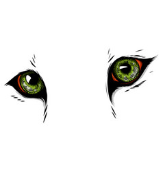 Eyes of a feline with ornaments vector