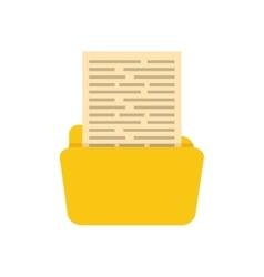 Folder business document vector image