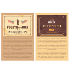 fourth july independence day poster usa flags vector image